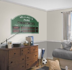 Customize Your Baseball Players Bedroom Or Playroom With The Personalized Scoreboard Decal Add Stats Player Name Field And Teams On