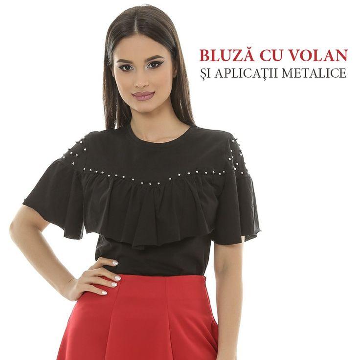 Bluza cu volane și aplicații metalice ar arăta perfect în magazinul tău.  Se asortează ușor la alte obiecte vestimentare și are un aspect deosebit, deci comandă acum: http://www.adromcollection.ro/574-bluza-angro-6214.html