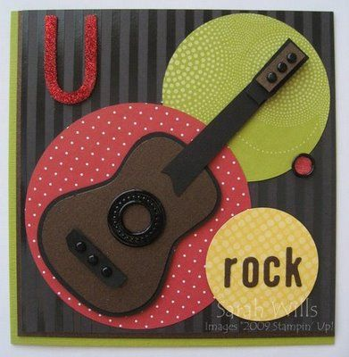 U Rock Guitar Card… « Sarahs Ink Spot: