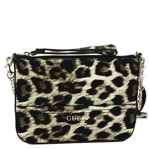Un sac  pochette au style ultra féminin, ce sac pochette signé Guess est plein de personnalité . Un Sac chic à porter matin et soir.