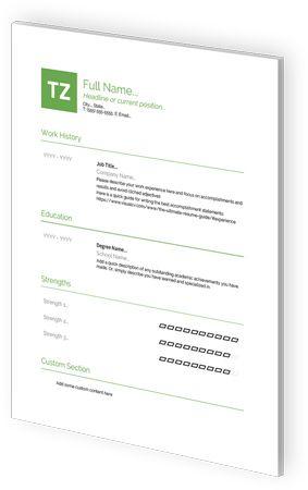 Google Docs Resume Templates By VisualCV
