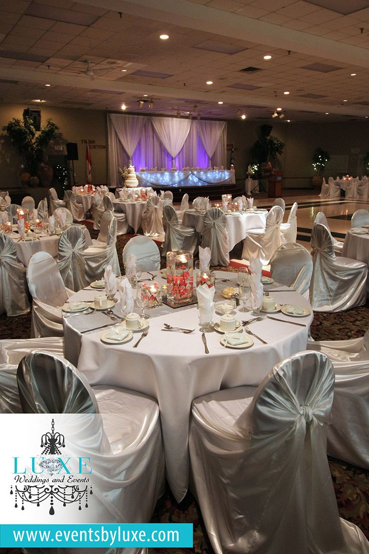 White Silver And Pink Wedding Decor Reception