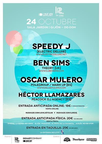 OSCAR MULERO / BEN SIMS/ SPEEDY J 24 de Octubre de 2015,  Sala Jardín Gijón, Asturias (ESPAÑA)