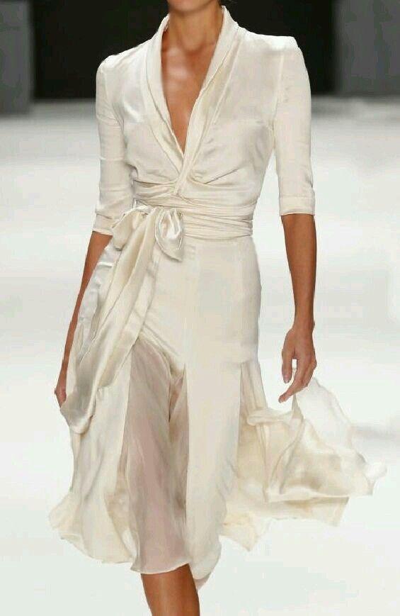 Podría incluso casarme con este vestido #fashion women