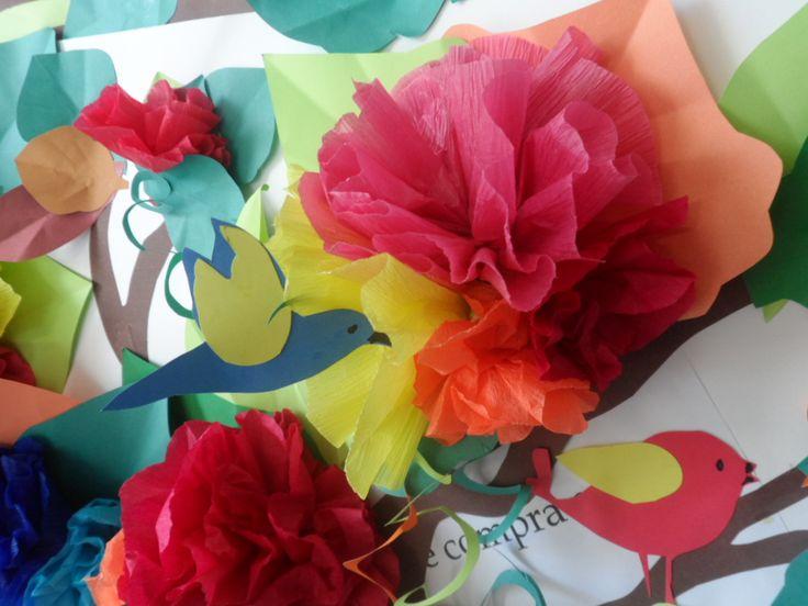 Detalhe Painel Primavera - Ana Dias -Escola Experimental