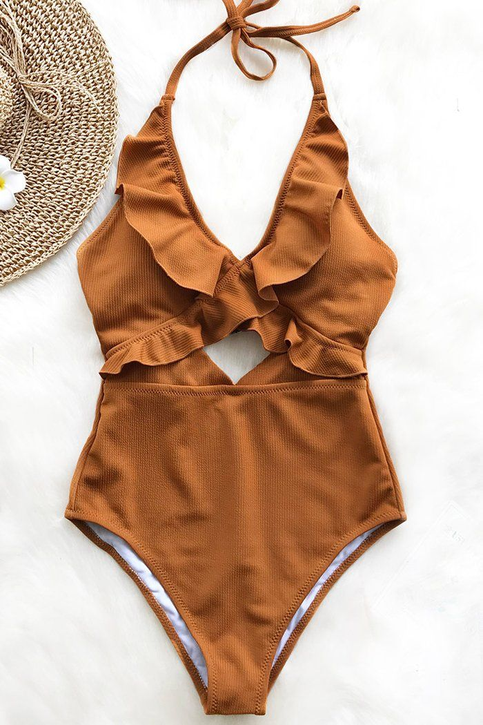 e45b3844649 Stay With You Falbala One-piece Swimsuit