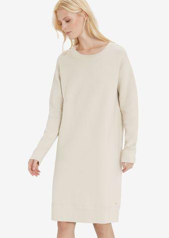 Gebreide jurk raw wool