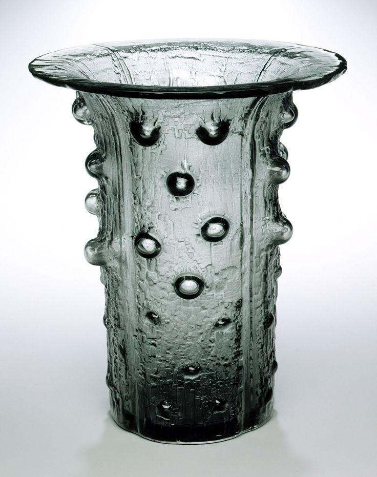 Timo Sarpaneva; Blown and Molded Glass 'Finlandia' Vase for Iittala, 1964.