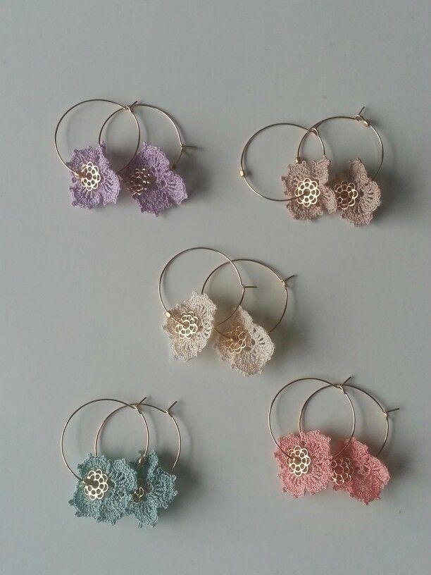 crochet lace earrings http://www.pinterest.com/annarivers0055/what-i-make/