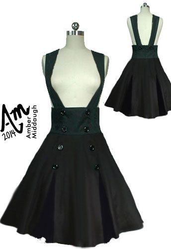 High-Waist Suspenders  Skirt by Amber Middaugh (currently in voting - click the link and vote YES to give it a shot at production) Thanks!--- Save 37% at ChicStar.com --Coupon: AMBER37