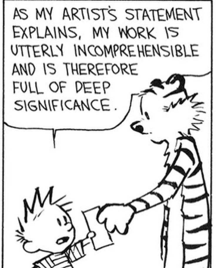 Calvin and Hobbes on Twitter   Artist statement, Calvin and hobbes, Calvin  and hobbes comics