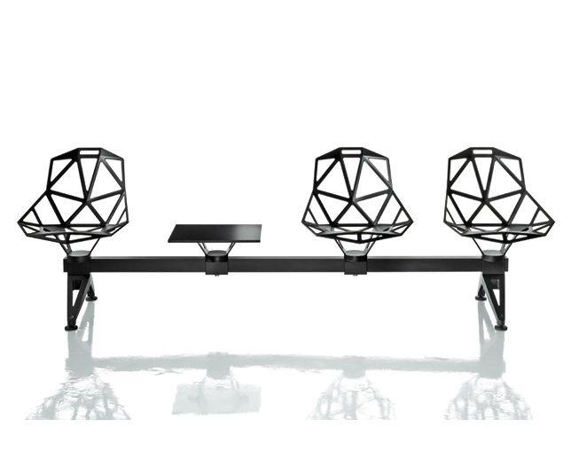 MAGIS Chair_One Public Seating System 2(4シートベース+シート×3+ミニテーブル)のメイン写真