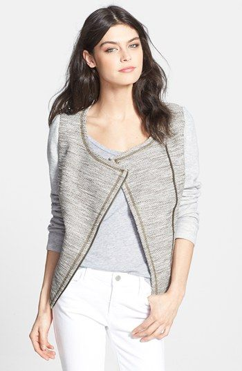 Hinge® Textured Mixed Media Jacket available at #Nordstrom