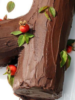 egycsipet: Csokitorta - Fatörzstorta