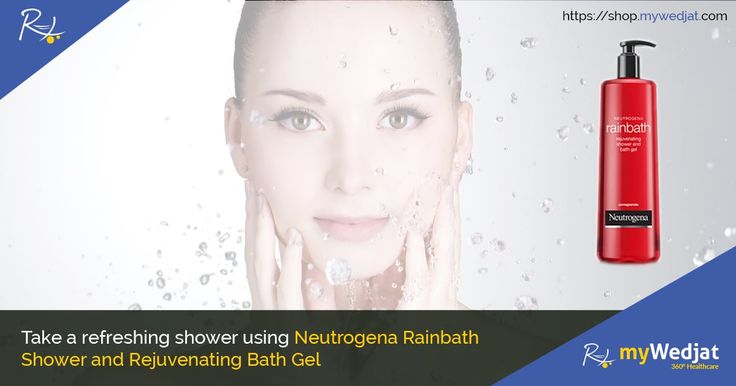 Neutrogena RAINBATH Rejuvenating Pomegranate Shower and Bath Gel softens and conditions skin without a heavy leave-behind residue.