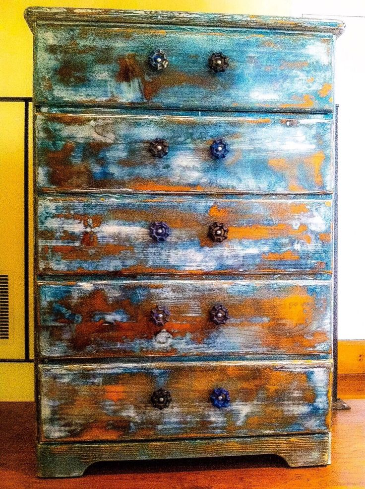 Shabby Chic Dresser, large, farmhouse dresser with garden hose turn knobs, painted, blue, vintage white w/ copper penny undertones by ReincarnatedwithLove on Etsy https://www.etsy.com/listing/198529288/shabby-chic-dresser-large-farmhouse