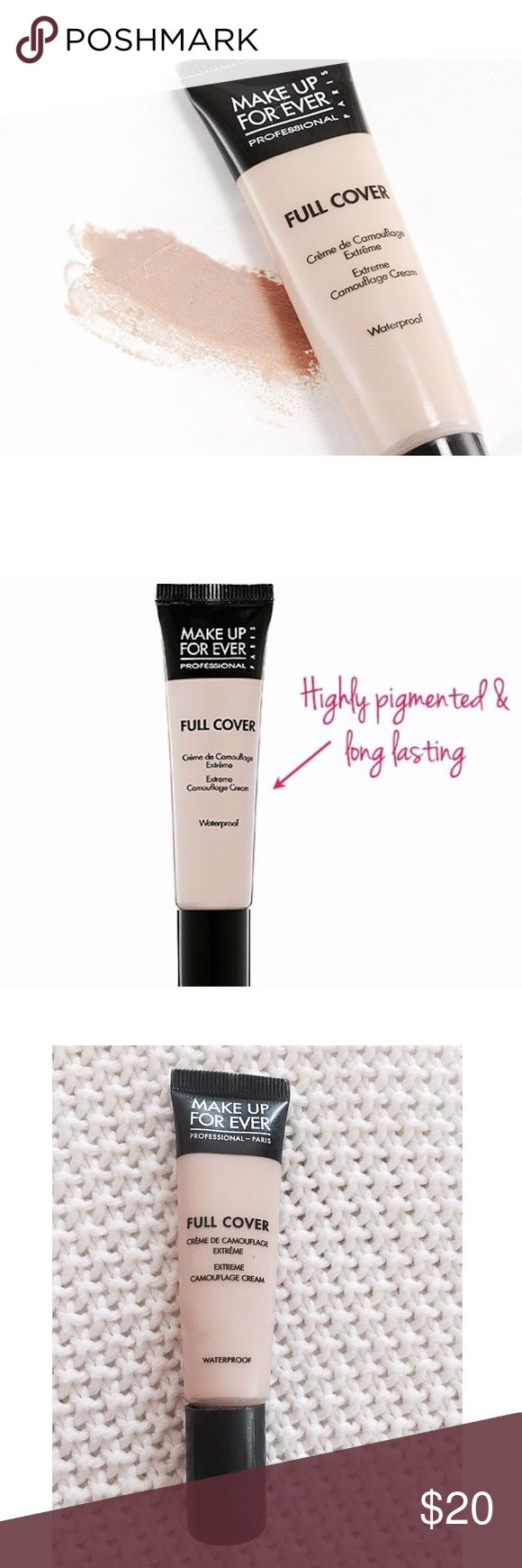 "Makeup Forever Full Cover Concealer Make up Forever's award winning full cover concealer. Extreme pigmentation gives complete coverage of any imperfection ⚜ I've used this a few times but it has most of the product inside still. The shade is ""1"" which is their lightest shade. Makeup Forever Makeup Concealer"