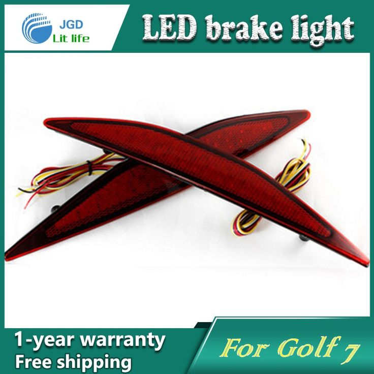 27.55$  Watch now - http://alizki.shopchina.info/go.php?t=32708183888 - Car Styling Rear Bumper LED Brake Lights Warning Lights case For VW Golf 7 2013-2015 Accessories Good Quality  #SHOPPING