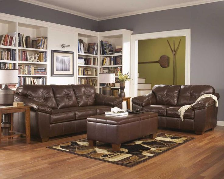 "With the rich faux leather upholstery and a plush comfortable design, the ""San Lucas-Harness"" upholstery collection is the exceptional choice to enhance your living room decor.  ‪#‎LivingRoomFurniture‬ ‪#‎Sofas‬ ‪#‎LivingRoomDecor‬"