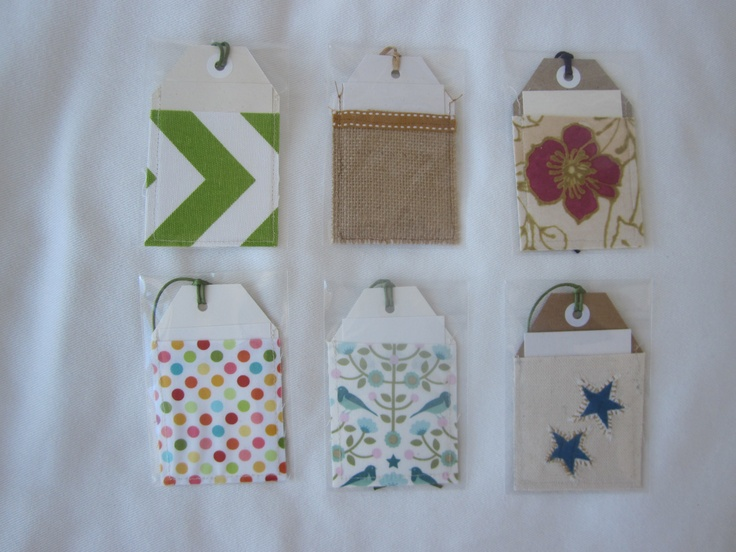 Paper & fabric gift tags