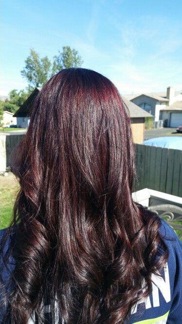 Fall Hair We Called The Color Black Cherry With Big Red