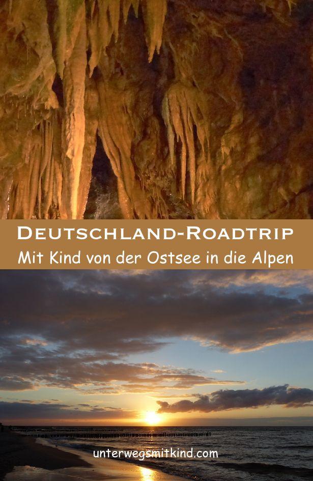 #ReisenmitKindern #Deutschland #Roadtrip #Ostsee #Alpen