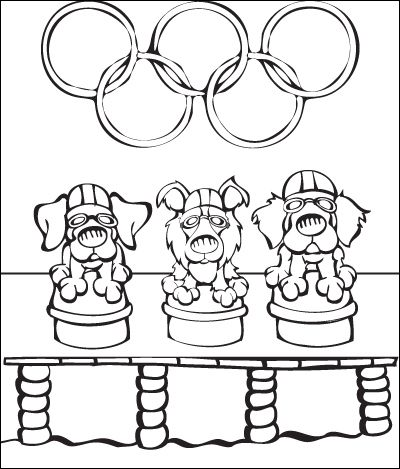 dltk coloring pages olympics swimmers - photo#24