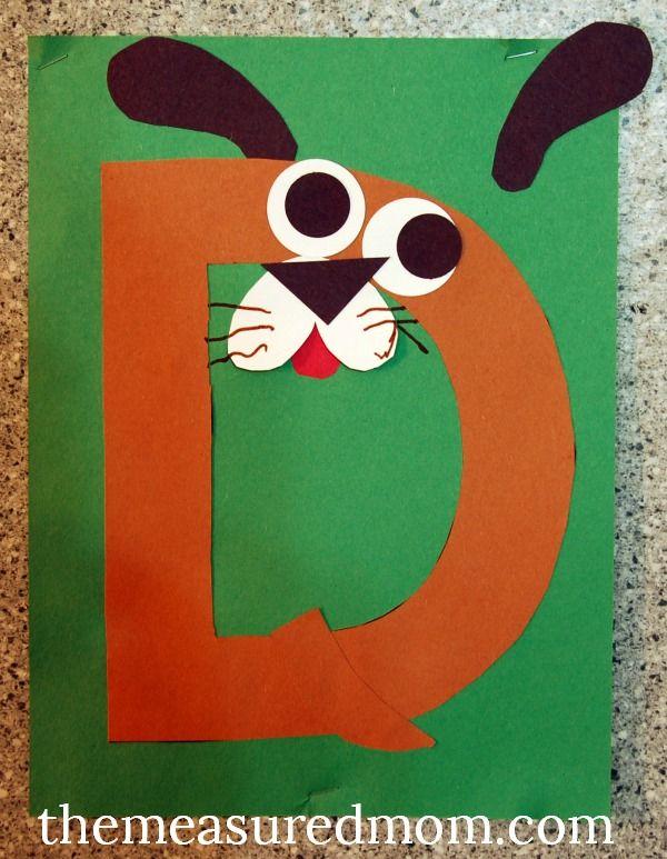Letter D art project 2