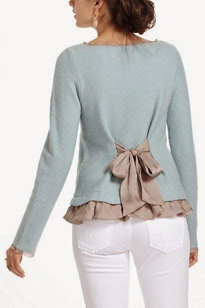 DIY ajustar una blusa o un cárdigan que te queda grande es sencillo y rápido.