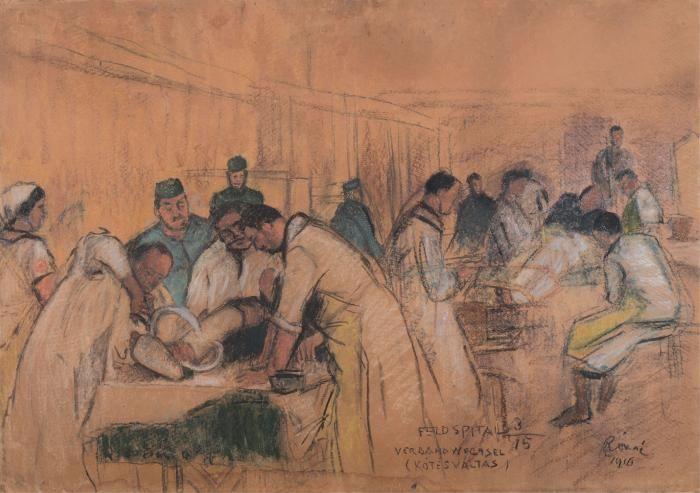 RIPPL-RÓNAI József: Bandage change, 1916