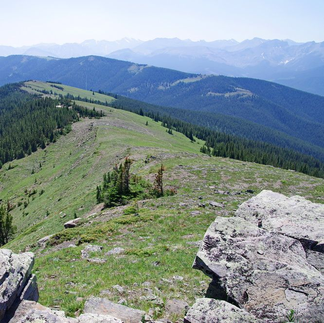 Trail to Jumpingpound Ridge from the summit of Cox Hill, Kananaskis Country
