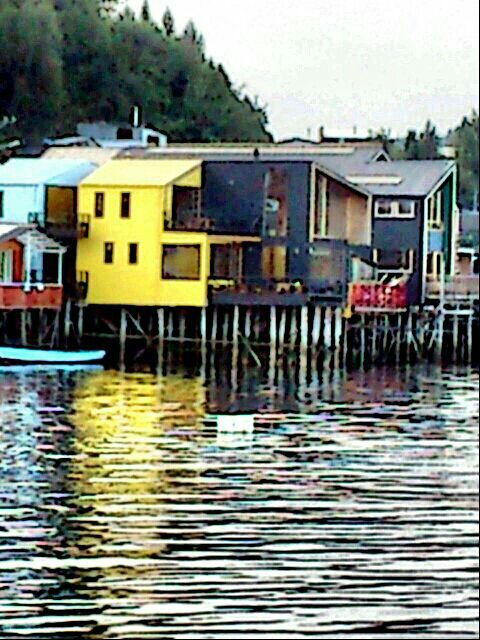 Palafitos. Chiloe Chile.