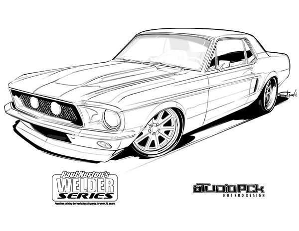 Mustang Coloring Page Car Drawings Cars Coloring Pages Cool Car Drawings