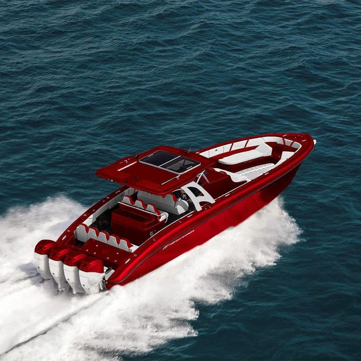Candy red Midnight Express 43 Open and quads