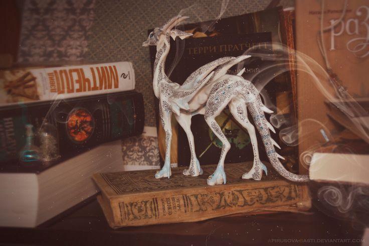 Name: 8_14/15 Pulvis Liber.  Material - La Doll Premix  #handmade #modeling #sculpt #dragon #sculpture