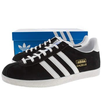 Women\u0027s Black \u0026 White Adidas Gazelle Og Ii Trainers | schuh