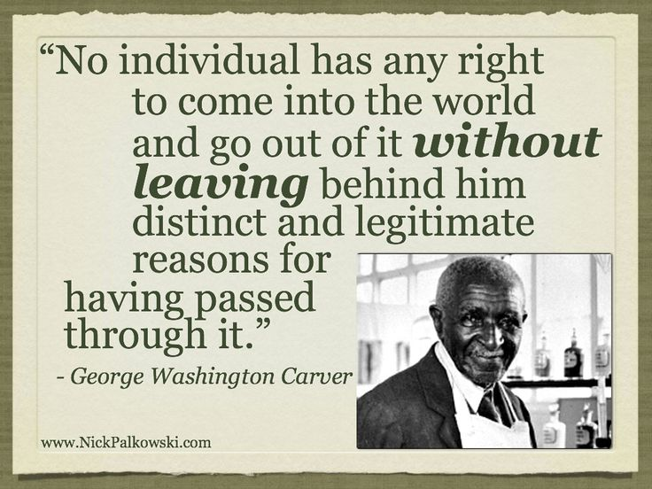 George Washington Carver (from FBLA Week Speaker   Nick Palkowski)  George Washington Resume