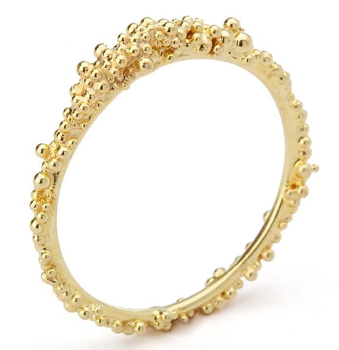 HANNAH BEDFORD -UK  Gold Granule ring from  Damson Jewellery. How beautiful and unusual :)