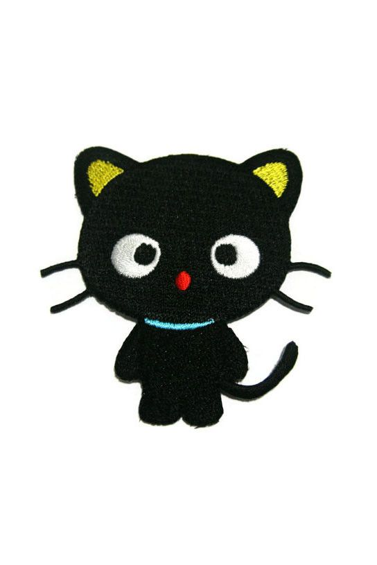 Standard Goods Patch Cute Black Cat Embroidered