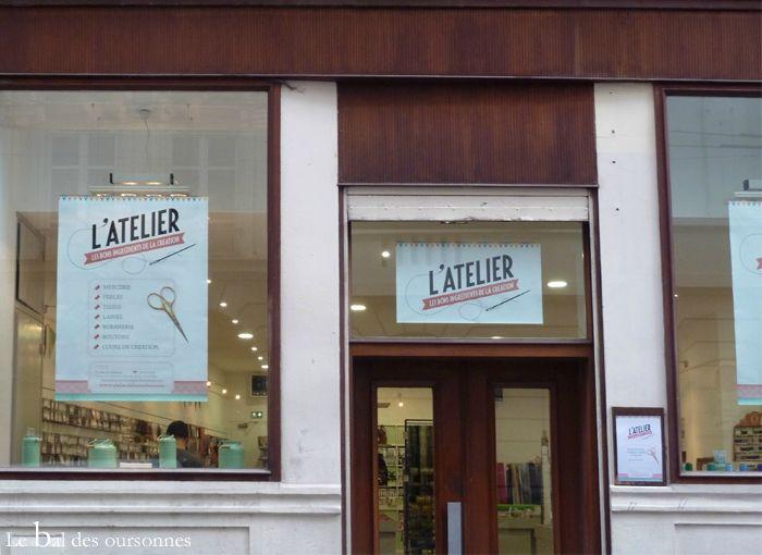 Boutique l'Atelier de la création Lyon Laine mercerie tissus