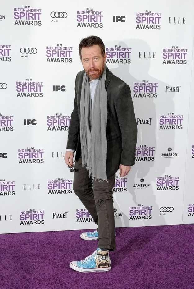 "Awesome -- Bryan Cranston Wore ""Breaking Bad"" Sneakers To The Independent Spirit Awards"