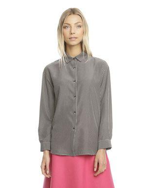 Prezzi e Sconti: #Camicia in satin di pura seta Nero  ad Euro 48.00 in #Fiducia #Abbigliamento camicie e bluse