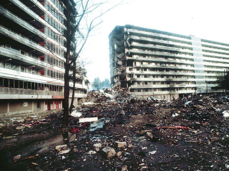De overblijfselen van de flat.  Maurice Boyer / NRC