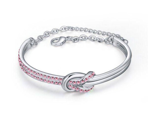 braccialetto con cristalli
