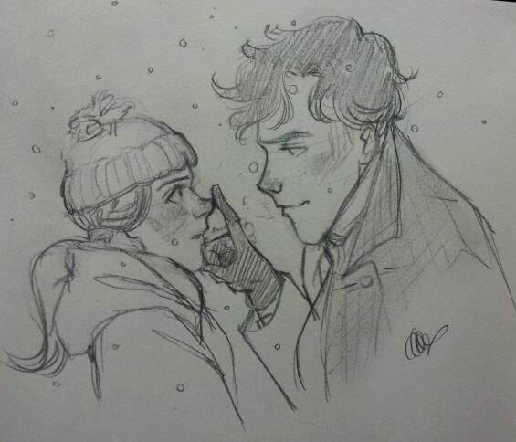 Sherlock & Molly - art by Lexie, vamos entrando en su mundo