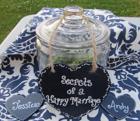 Wedding Reception Keepsake Jar - Perfect for a Wedding Guest Book