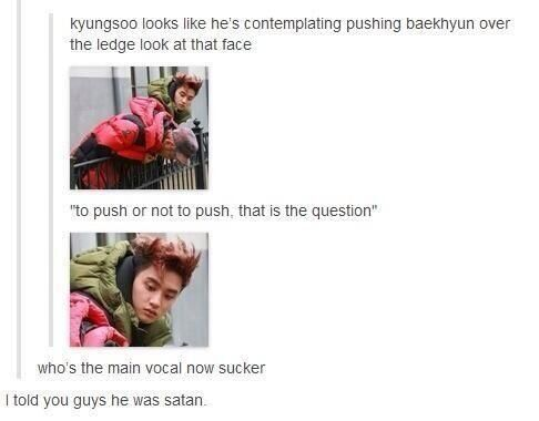 KyungSoo! Still upset over the main vocals position? HAHAH =))