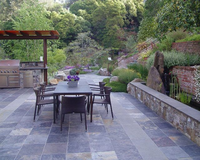 mur de jardin pierre original #jardines paisajes y jardines