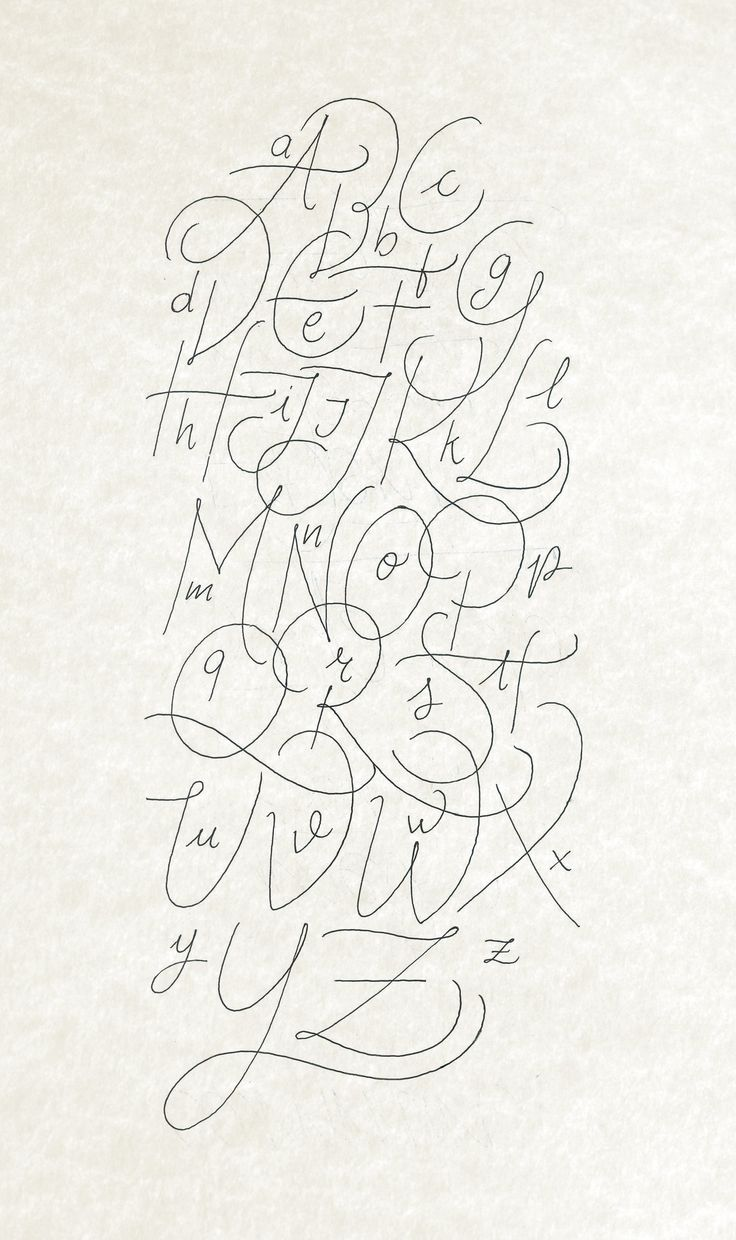 Another calligraphy Alphabet rought made with Bic Crystal Gel and digitalized