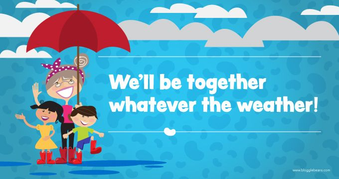 We'll be together whatever the weather! #grandma and #grandkids